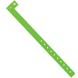 Plastic Wristbands Day-Glo Green 3/4 inch x 10 inch (500 Per/Pack)