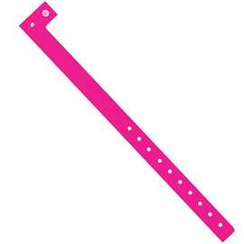 Plastic Wristbands Day-Glo Pink 3/4 inch x 10 inch (500 Per/Pack)