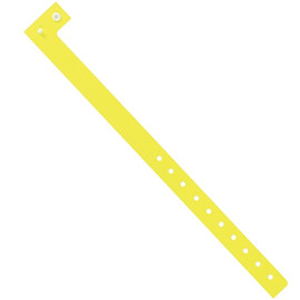 Plastic Wristbands Day-Glo Yellow 3/4 inch x 10 inch (500 Per/Pack)
