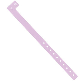 Plastic Wristbands Lavender 3/4 inch x 10 inch (500 Per/Pack)