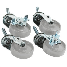 Caster Set for Roll Storage System Stand (4 Per/Set)