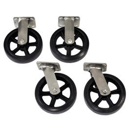 Metal Platform Truck Wheel Set 8 inch x 2 inch