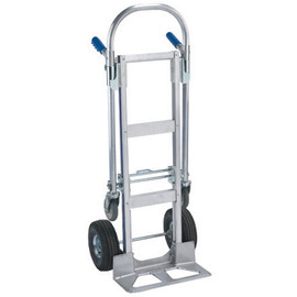 Dual/Continuous Handle Convertible Aluminum Hand Truck with Pneumatic Wheels