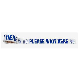 Please Wait Here Floor Tape (2-1/4 inch x 54 ft)