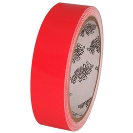 Tape Planet Fluorescent Red 1 inch x 10 yards Premium Cast Vinyl Tape
