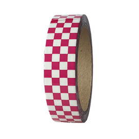 Magenta / White Laminated Checkerboard