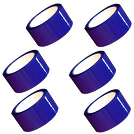 "Blue Carton Sealing Tape 2"" x 110 yard Roll 2.0 mil (6 Pack)"
