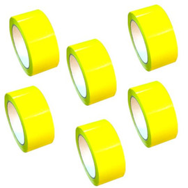 "Yellow Carton Sealing Tape 2"" x 110 yard Roll 2.0 mil (6 Pack)"
