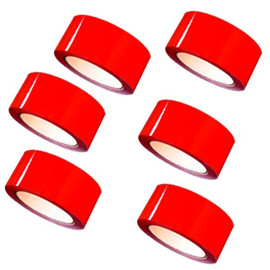 "Red Carton Sealing Tape 2"" x 55 yard Roll 2.0 mil (6 Pack)"