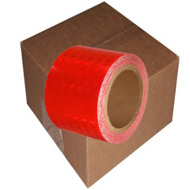 "Red Super Bright High Intensity Reflective Tape 3"" x 30 ft (8 Roll Case)"