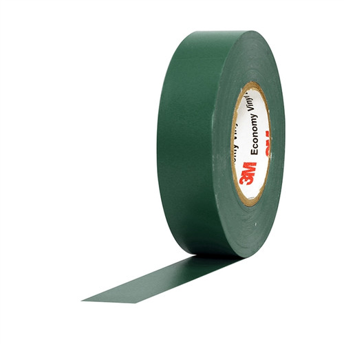 3M Economy Vinyl Electrical Tape 1400C Green 3/4 inch x 60 ft x 7 mil (10 Pack)