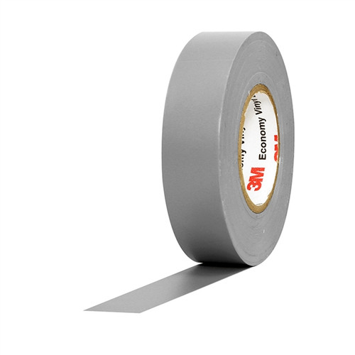 3M Economy Vinyl Electrical Tape 1400C Grey 3/4 inch x 60 ft x 7 mil (10 Pack)