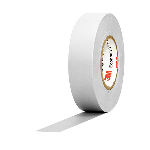 3M Economy Vinyl Electrical Tape 1400C White 3/4 inch x 60 ft x 7 mil (10 Pack)