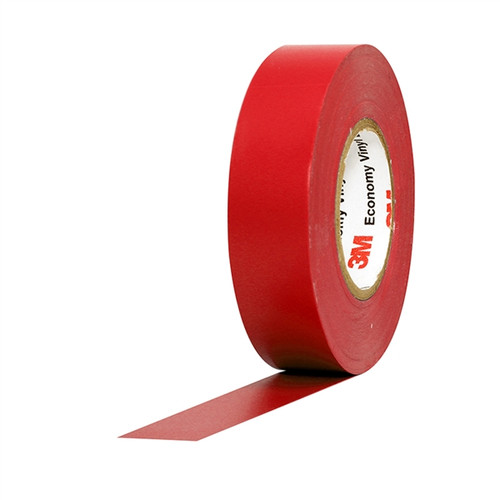 3M Economy Vinyl Electrical Tape 1400C Red 3/4 inch x 60 ft x 7 mil