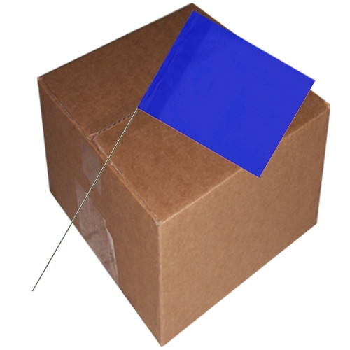 Marking Flags Blue 4 inch x 5 inch Flag with 30 inch Wire Staff (1000 Piece/Pack)