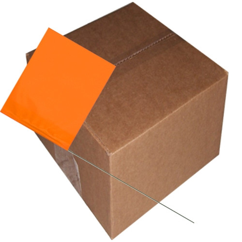 Marking Flags Orange Glo 4 inch x 5 inch Flag with 30 inch Wire Staff (1000 Piece/Pack)