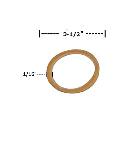 Rubber Bands 1/16 inch x 3 1/2 inch (12400 Per/Pack)