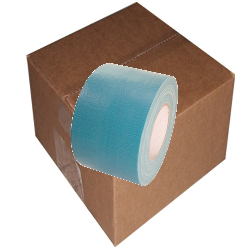 Teal Blue Duct Tape 4 inch x 60 yard Roll (12 Roll/Pack)