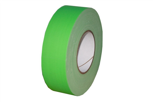 Economy Fluorescent Green Gaffers Duct Tape 2 inch x 60 yard Roll (24 Roll/Pack)