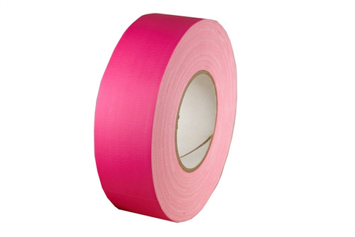 Economy Fluorescent Pink Gaffers Duct Tape 2 inch x 60 yard Roll (24 Roll/Pack)