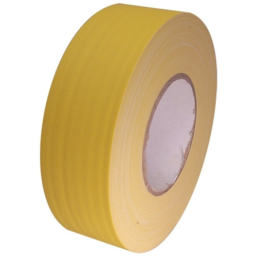 Economy Yellow Gaffers Duct Tape 2 inch x 60 yard Roll (24 Roll/Pack)
