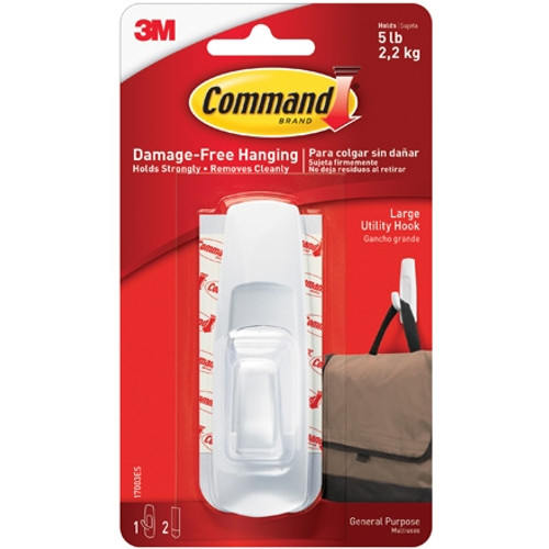 3M 17003 Command Hooks and Strips - Large (6 Pack)