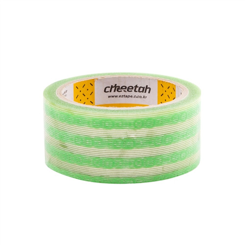 Cheetah fts Hand Cut Tape, Hand Tearable Packing Tape 1.77 inch x 43.74 yard Roll Green