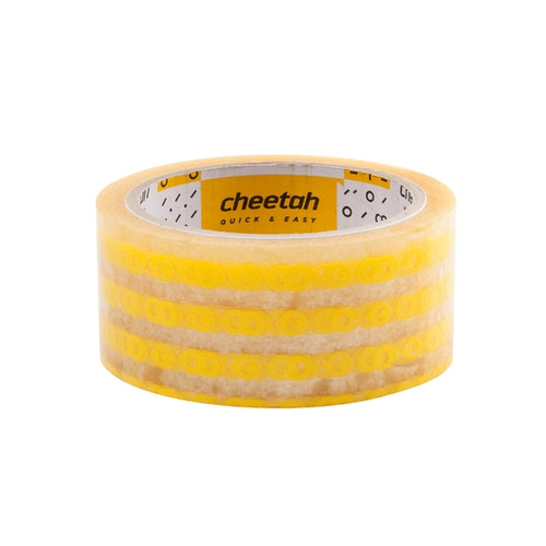 Cheetah fts Hand Cut Tape, Hand Tearable Packing Tape 1.77 inch x 43.74 yards Yellow
