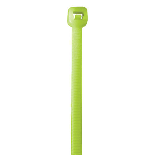 """Fluorescent Green Cable Ties 18"""" 50# (500 Tie/Case)"""