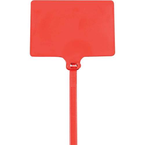 """Red Extra Large Identification Cable Ties 6"""" 120# (100 Ties)"""
