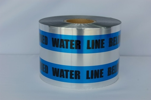 Detectable Underground Tape - Caution Buried Water Line Below - 6 inch x 1000 ft Roll (4 Roll/Pack)