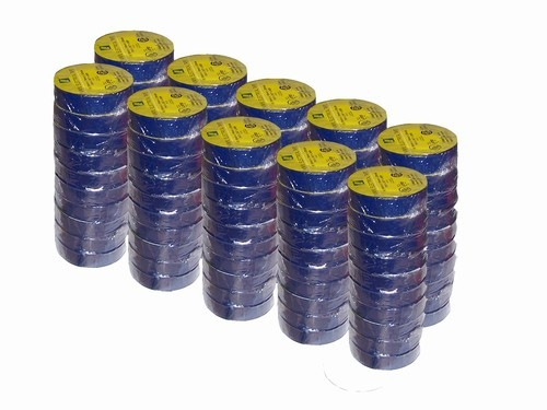 Blue Electrical Tape 3/4 inch x 66 ft Roll 7 mil (100 Roll/Pack)