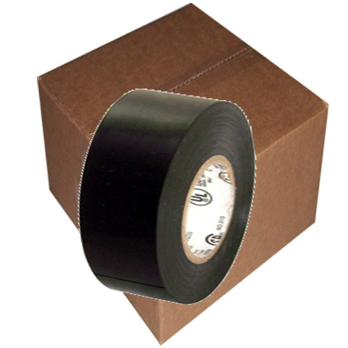 Electrical Tape Black 7 mi 2 inch x 66 ft Roll 7 mil (80 Roll/Pack)