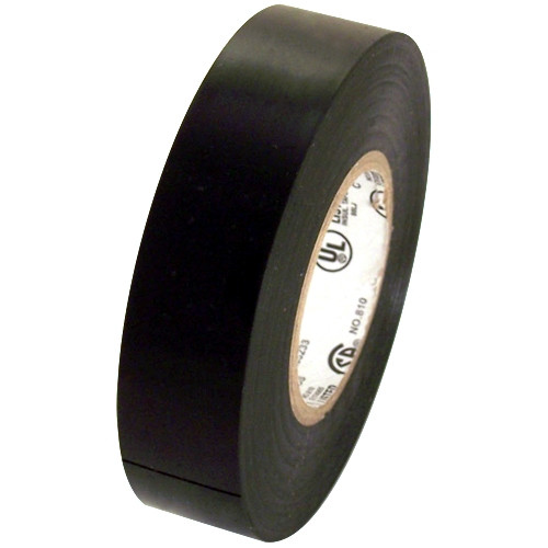 Black Electrical Tape 3/4 inch x 66 ft Roll 7 mil