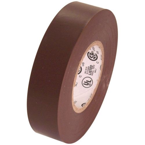 Brown Electrical Tape 3/4 inch x 66 ft Roll 7 mil