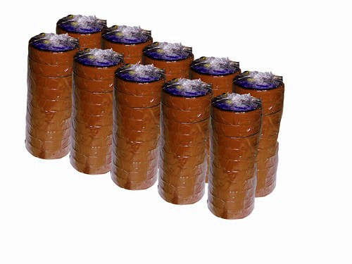 Brown Electrical Tape 3/4 inch x 66 ft Roll 7 mil (100 Roll/Pack)
