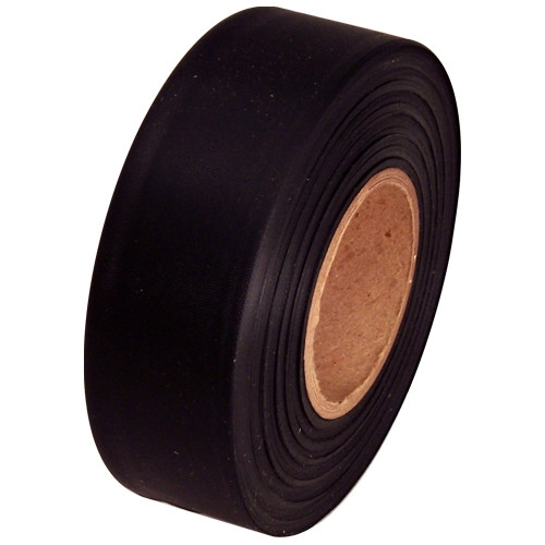 Black Flagging Tape 1 3/16 inch x 300 ft Roll Non-Adhesive