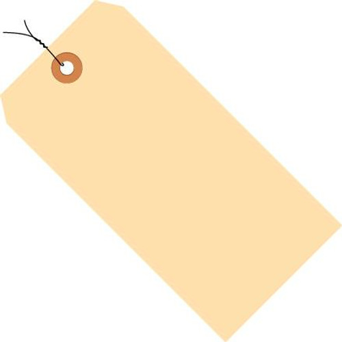 Manila Pre-Wired Tags 13 pt. - 5 3/4 inch x 2 7/8 inch (1000 Per/Pack)