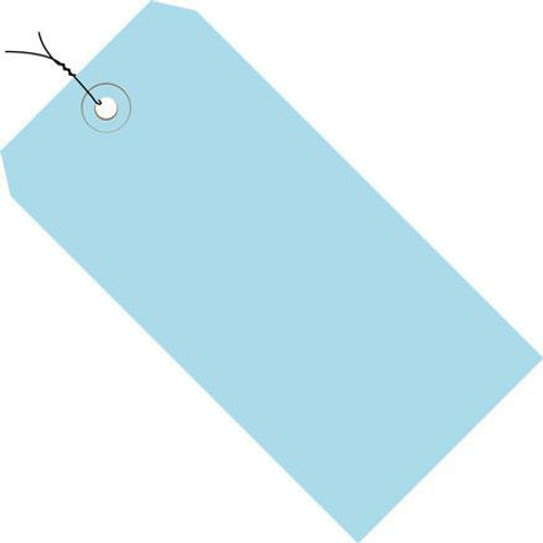 Colored Tags Pre-Wired Light Blue 4 1/4 inch x 2 1/8 inch (1000 Per/Pack)
