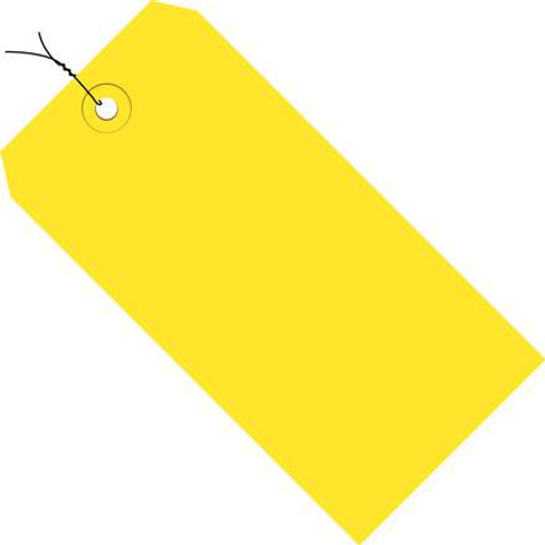 Colored Tags Pre-Wired Yellow 4 1/4 inch x 2 1/8 inch (1000 Per/Pack)