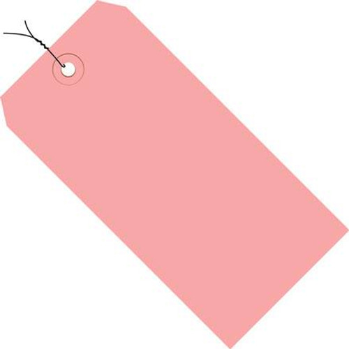 Colored Tags Pre-Wired Pink 4 1/4 inch x 2 1/8 inch (1000 Per/Pack)
