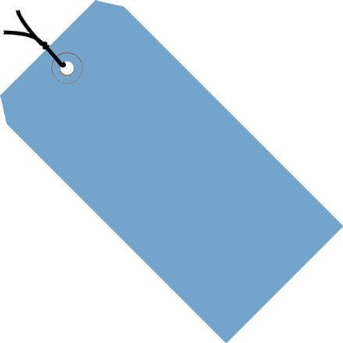 Colored Tags Pre-Strung Dark Blue 4 3/4 inch x 2 3/8 inch (1000 Per/Pack)