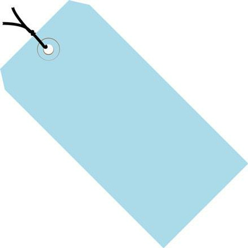 Colored Tags Pre-Strung Light Blue 4 3/4 inch x 2 3/8 inch (1000 Per/Pack)