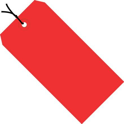 Colored Tags Pre-Strung Red 4 3/4 inch x 2 3/8 inch (1000 Per/Pack)