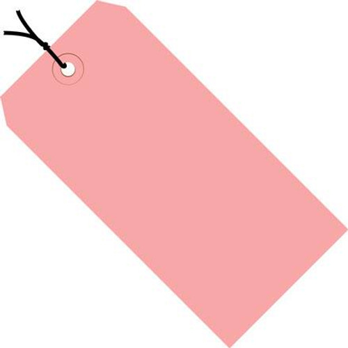 Colored Tags Pre-Strung Pink 4 3/4 inch x 2 3/8 inch (1000 Per/Pack)
