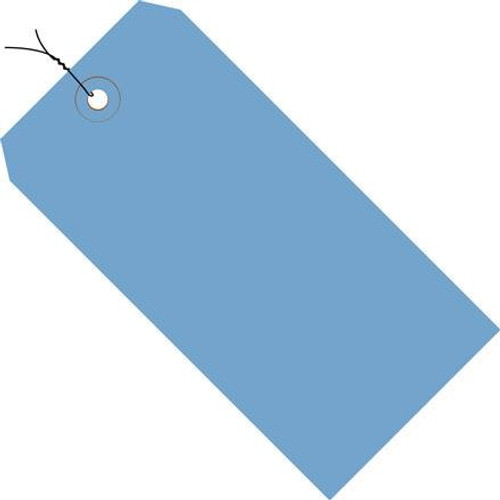 Colored Tags Pre-Wired Dark Blue 4 3/4 inch x 2 3/8 inch (1000 Per/Pack)