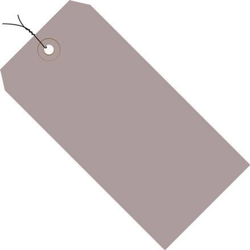Colored Tags Pre-Wired Gray 4 3/4 inch x 2 3/8 inch (1000 Per/Pack)
