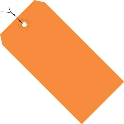 Colored Tags Pre-Wired Orange 4 3/4 inch x 2 3/8 inch (1000 Per/Pack)