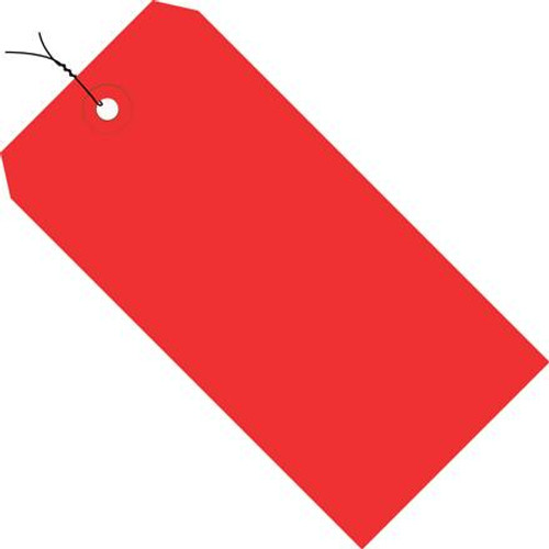 Colored Tags Pre-Wired Red 5 3/4 inch x 2 7/8 inch (1000 Per/Pack)