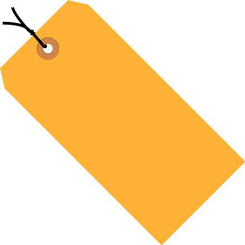 Shipping Tags Pre-Strung Fluorescent Orange 2 3/4 inch x 1 3/8 inch (1000 Per/Pack)